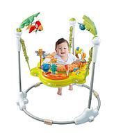 Развивающий центр прыгунки с игрушками Джунгли зеленые, фото 1
