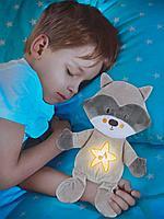 Детский ночник Енот с успокаивающими мелодиями