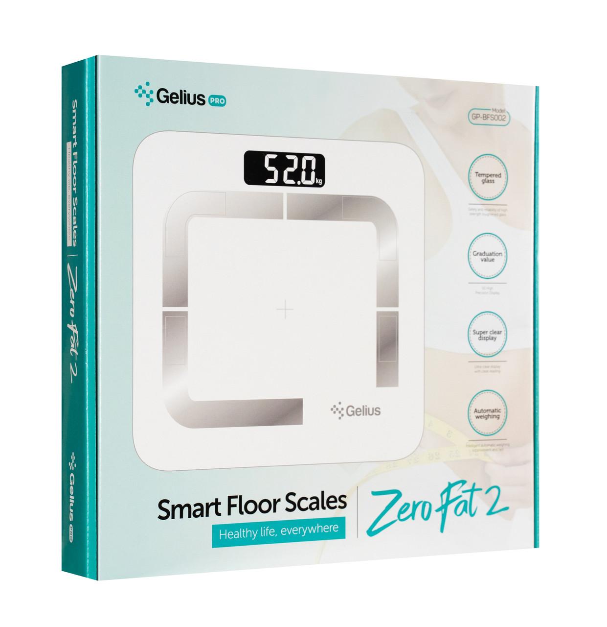 Умные Bluetooth-весы Gelius Floor Scales Zero 2 Fat GP-BS002