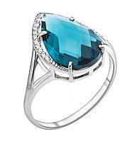 Серебряное кольцо с фианитом TEOSA 100-894а-TL