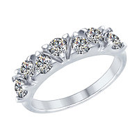 Кольцо из серебра с фианитом SOKOLOV 94012356