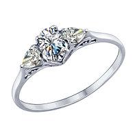 Серебряное кольцо с фианитом SOKOLOV 94012121