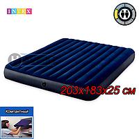 Двухспальный надувной матрас Intex 64755, размер 203х183х25см, фото 1