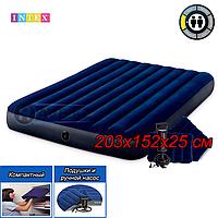 Двухспальный надувной матрас Intex 64765, размер 203x152x25 см, фото 1