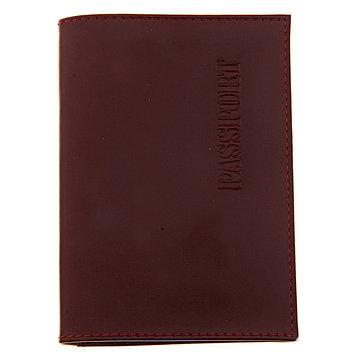Обложка для паспорта с карманом, цвет бордовый