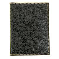 Обложка для паспорта и автодокументов, цвет чёрный флотер джинс