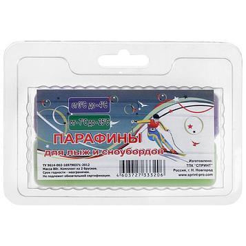 Парафины для лыж, комплект из 2 брусков, Ф-З, (от 0 до -25°C), 80 г