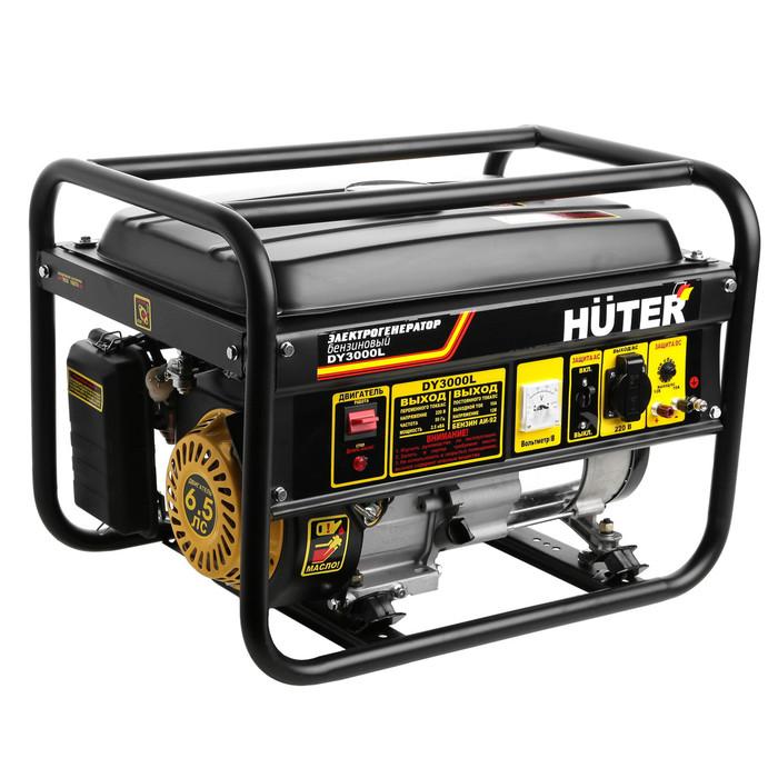 Электрогенератор Huter DY3000L, 2.5/2.7 кВт, 12 л, 220 В, ручной старт