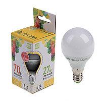 Лампа светодиодная ASD LED-ШАР-standard, Е14, 7.5 Вт, 230 В, 3000 К, 675 Лм
