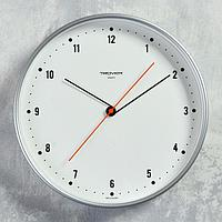 "Часы настенные круглые ""Классика"", белый обод, 30х30 см"