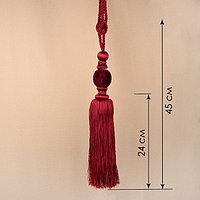 Кисть для штор «Есения», 78 ± 1 см, цвет бордовый