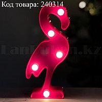 Светильник Фламинго ночник розовый фламинго 15 x 7,5 см 5 ламп (на батарейках)