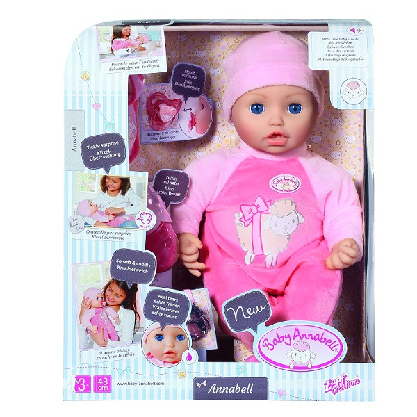 Baby Annabell Кукла Бэби Аннабель Многофункциональная, 43 см.