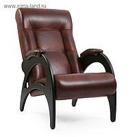 Кресло для отдыха Модель 41 Без лозы/Венге/Антик Крокодил