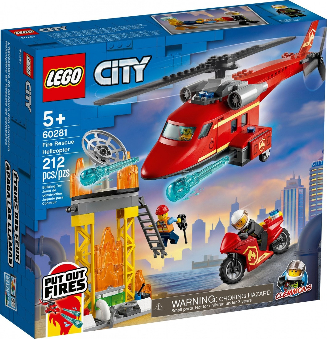 60281 Lego City Пожарные: Спасательный пожарный вертолёт, Лего Город Сити