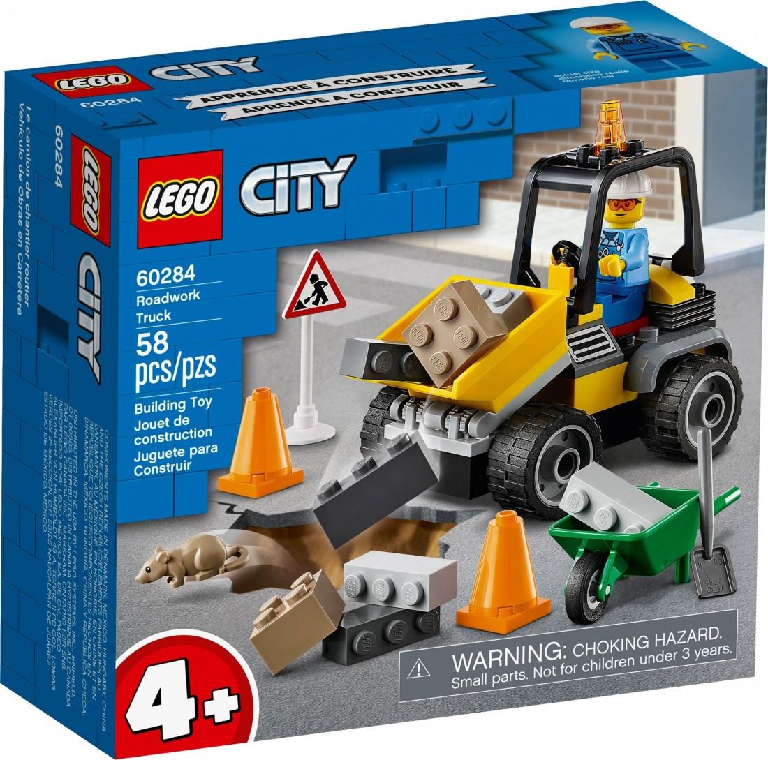 60284 Lego City Автомобиль для дорожных работ, Лего Город Сити