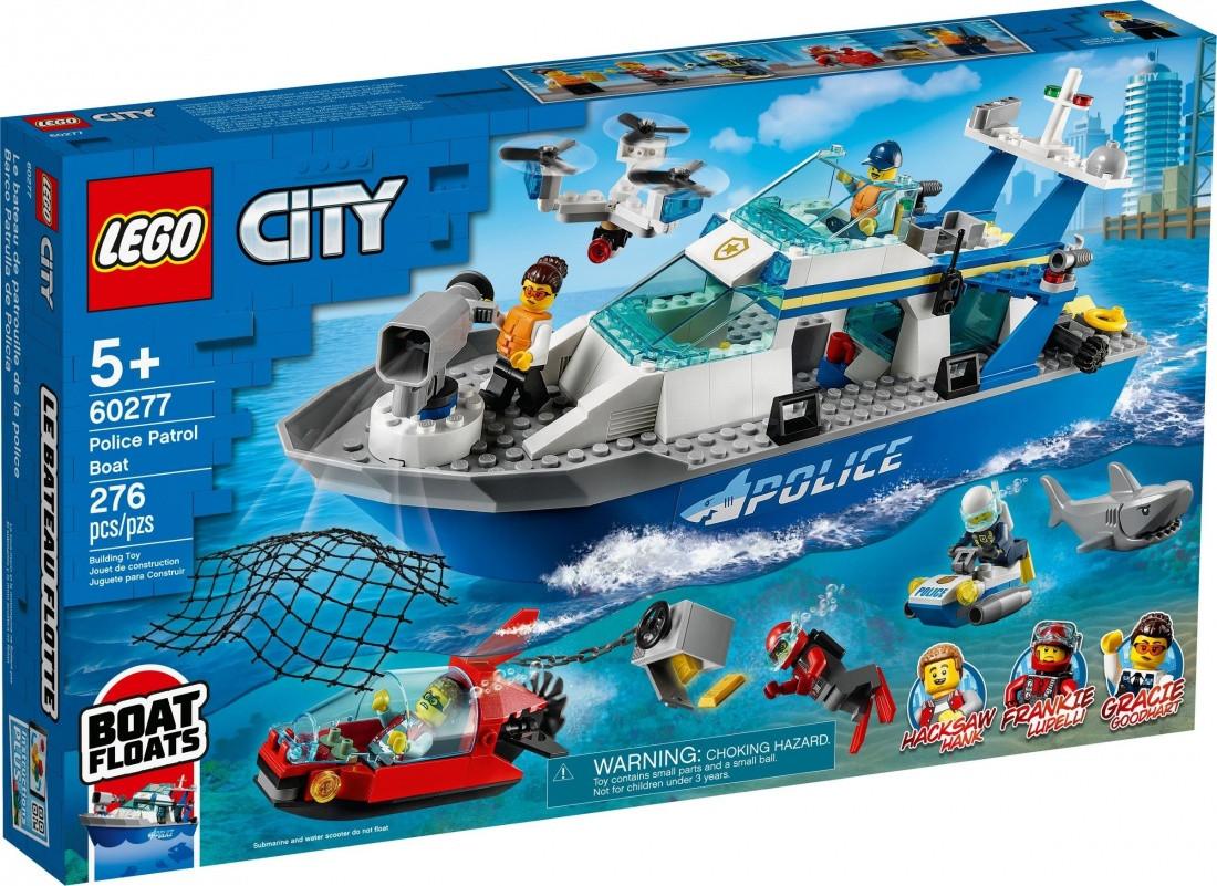 60277 Lego City Катер полицейского патруля, Лего Город Сити