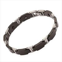 Черный элегантный титановый браслет мужской