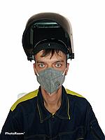 Полумаска со слоем угольного фильтра N95 FFP2 (сертификат СТ-KZ, ГОСТ 12.4.294-2015)