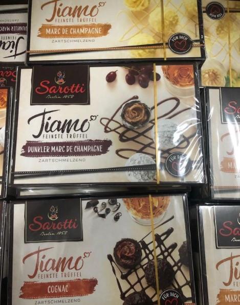 Шоколадные конфеты Sarotti Tiamo