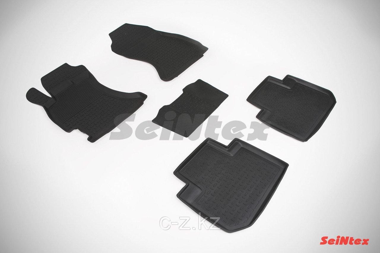 Резиновые коврики с высоким бортом для Subaru Forester IV 2012-2018