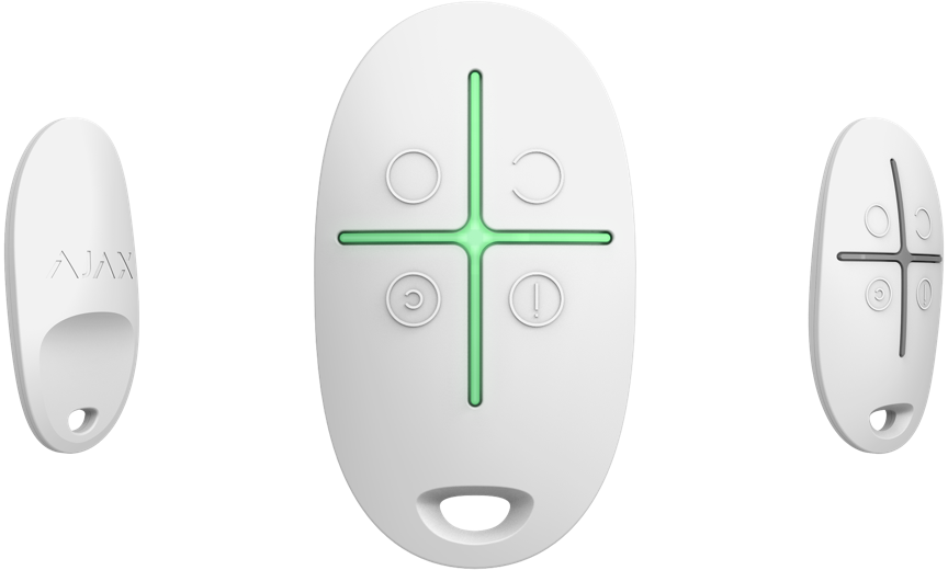 Карманный брелок для управления режимами охраны SpaceControl White