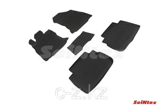 Резиновые коврики с высоким бортом для Subaru Forester V 2018-н.в., фото 2