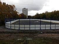 Хоккейный корт 20х40м стеклопластик