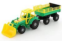 Трактор с прицепом и ковшом Алтай №2 65см