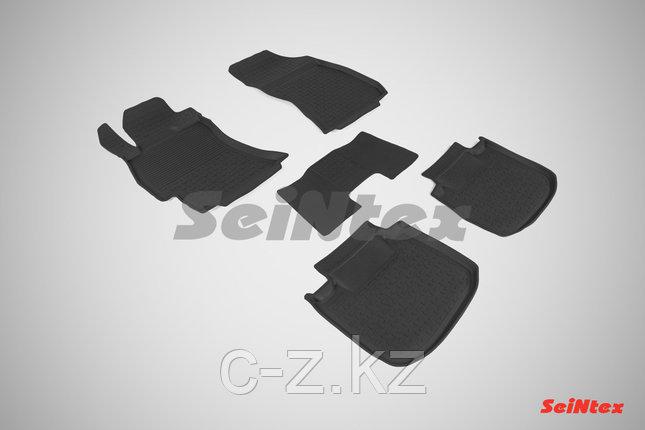 Резиновые коврики с высоким бортом для Subaru Outback V 2012-н.в., фото 2