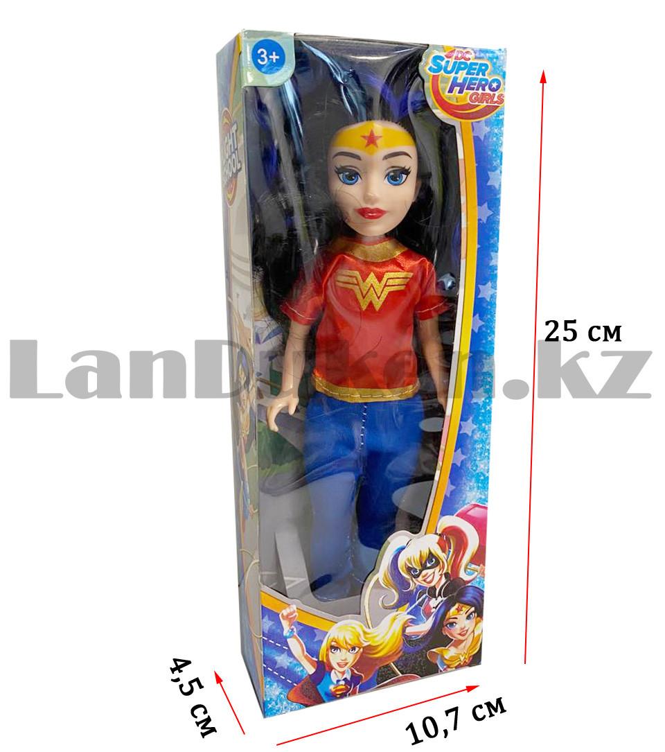 Кукла игрушечная детская Супер женщина Wonder women в костюмчике 24 см - фото 2
