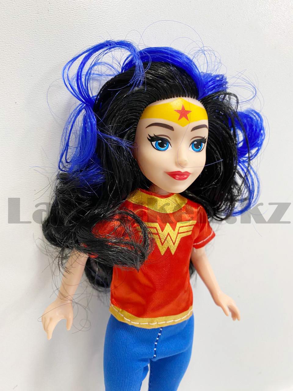 Кукла игрушечная детская Супер женщина Wonder women в костюмчике 24 см - фото 4