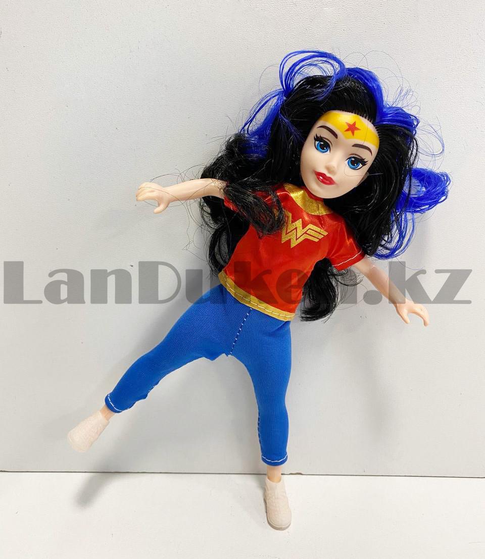 Кукла игрушечная детская Супер женщина Wonder women в костюмчике 24 см - фото 3