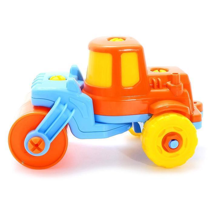 Конструктор-транспорт «Дорожный каток», 18 элементов (в пакете) - фото 3