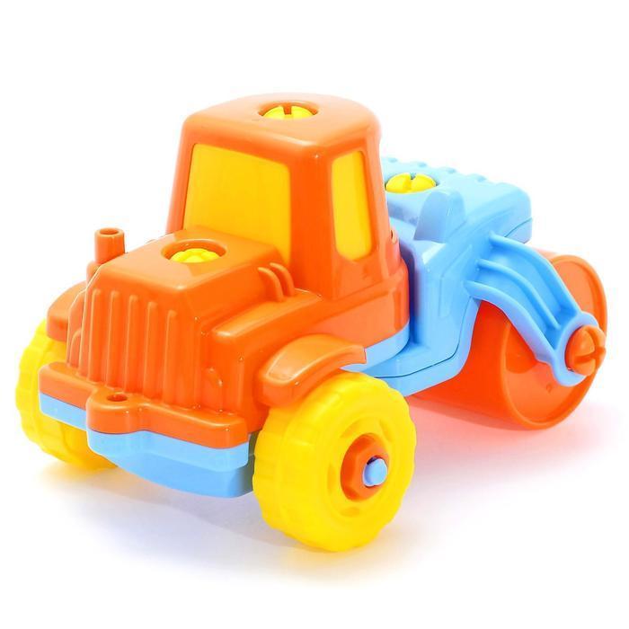 Конструктор-транспорт «Дорожный каток», 18 элементов (в пакете) - фото 4