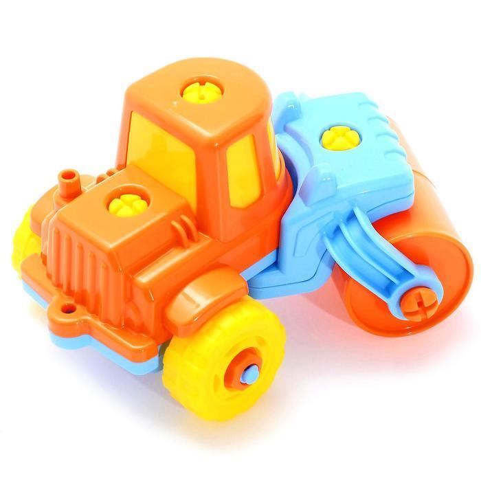 Конструктор-транспорт «Дорожный каток», 18 элементов (в пакете) - фото 5