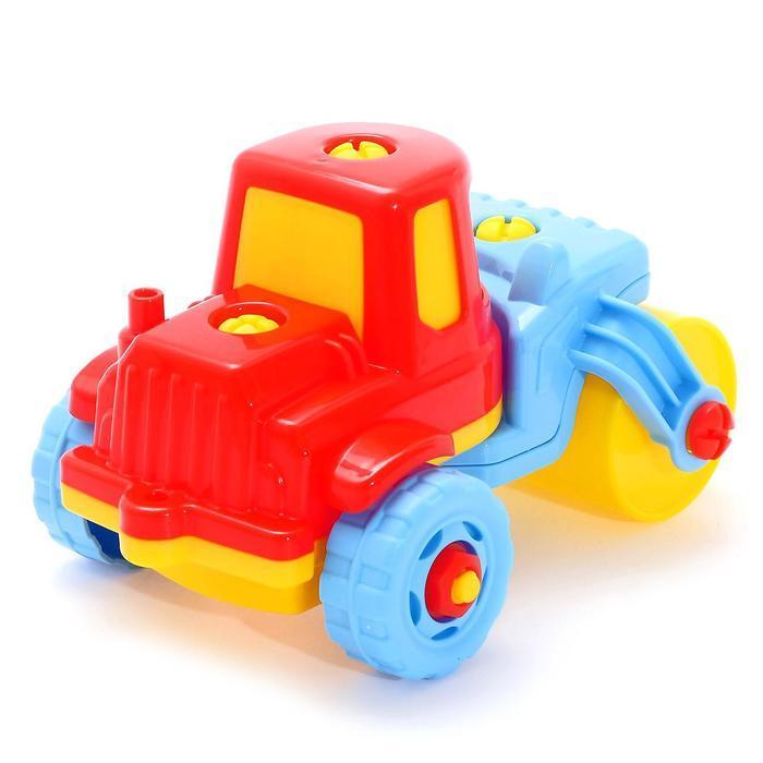 Конструктор-транспорт «Дорожный каток», 18 элементов (в пакете) - фото 8