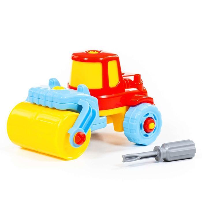 Конструктор-транспорт «Дорожный каток», 18 элементов (в пакете) - фото 9