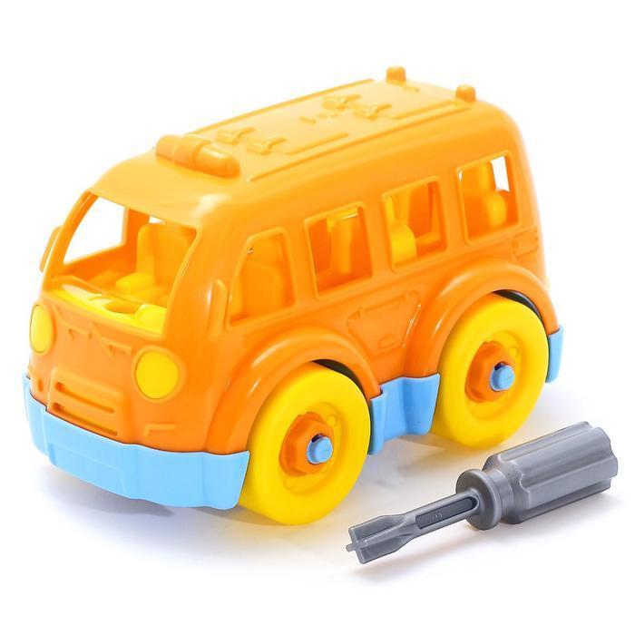 Конструктор-транспорт «Автобус малый», 15 элементов (в пакете) - фото 1