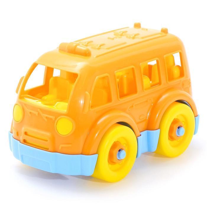 Конструктор-транспорт «Автобус малый», 15 элементов (в пакете) - фото 2