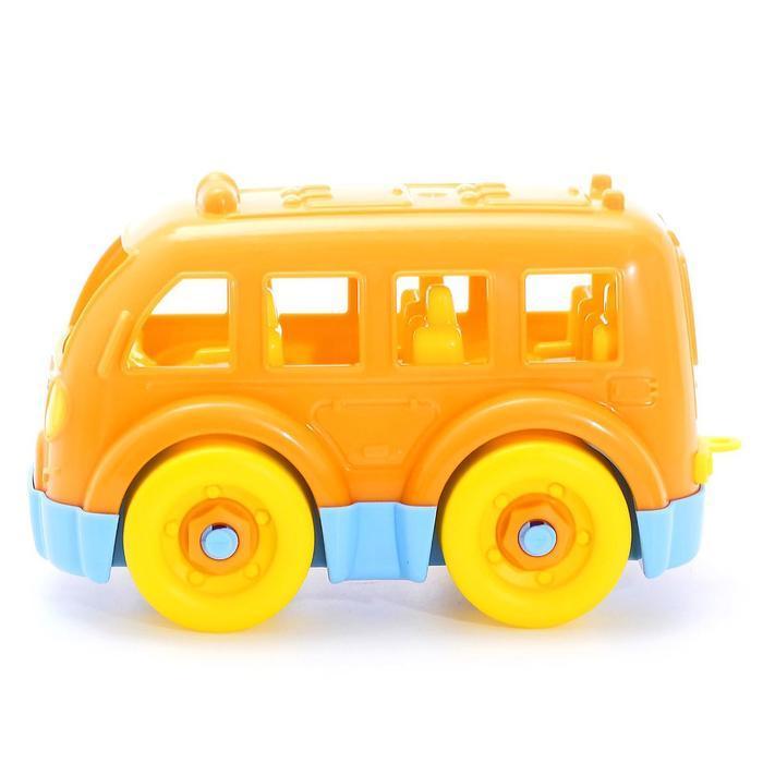 Конструктор-транспорт «Автобус малый», 15 элементов (в пакете) - фото 3