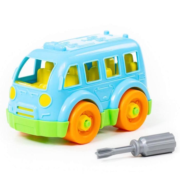 Конструктор-транспорт «Автобус малый», 15 элементов (в пакете) - фото 6