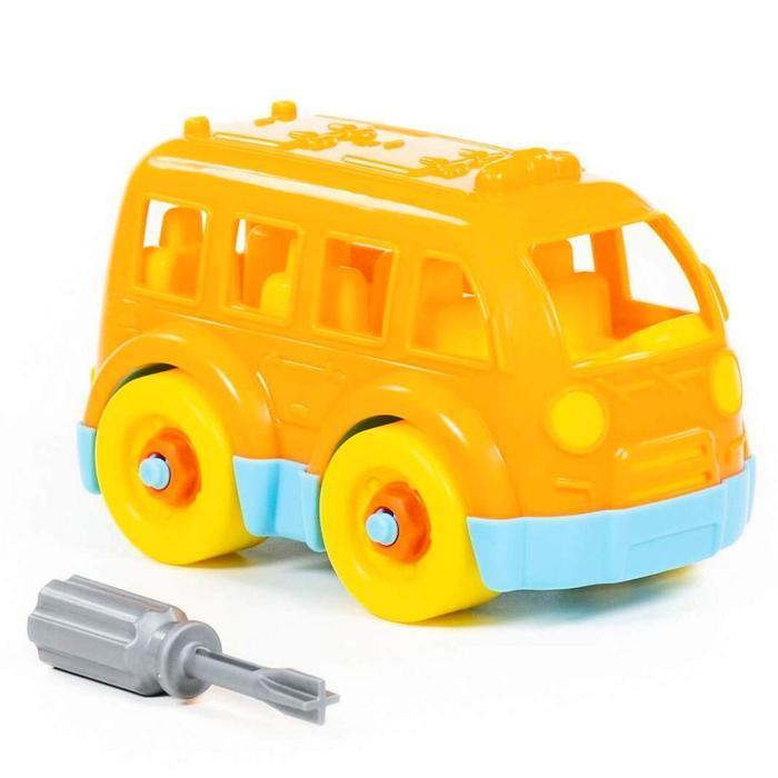Конструктор-транспорт «Автобус малый», 15 элементов (в пакете) - фото 8