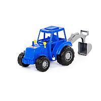 Трактор Мастер синий с лопатой Полесье
