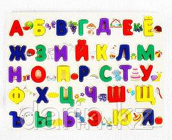 Игра настольная детская Алфавит Кириллица MGZ-0888 деревянная