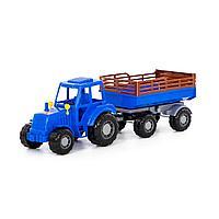 Трактор Алтай с прицепом синий №2 Полесье