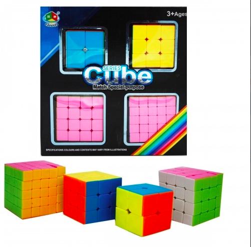 Набор головоломок- кубиков рубика из 4 - фото 3