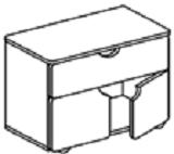 Тумба-стол универсальный для детского сада (800х400х620) арт. СТМ14