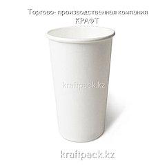 Бумажный стакан БЕЛЫЙ для горячих/холодных напитков 500мл (20 OZ / D90) (50/1000)
