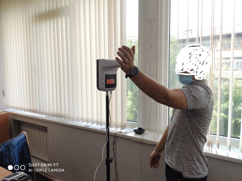 Cтационарный Бесконтактный инфракрасный термометр со штативом K3 Pro - фото 2